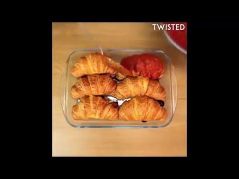 Cheesy Chorizo Croissant Bake