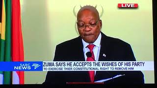 Official ZUMA RESIGNATION SPEECH 14th Feb 2018 SABC Coverage