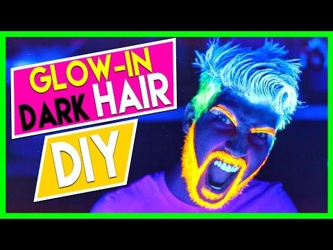 GLOW IN THE DARK HAIR DIY!