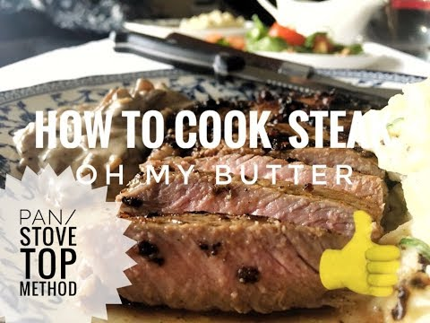 How to Cook Rib-eye Steak (Pan/Stove Top Method)  OH MY BUTTER 