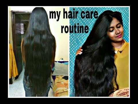 My hair care routine for long and shiny hair //Best shampoo,best conditioner and best hair oil