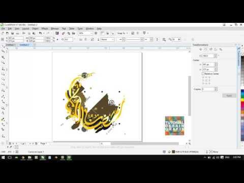 Cara mengubah file jpg png ke vector dengan coreldraw