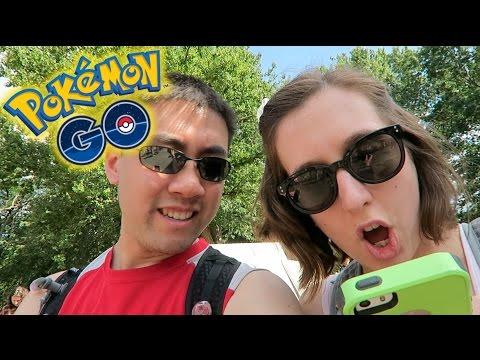 Pokemon Go - Adventure in Boston Commons! Growlithe + Dratini!
