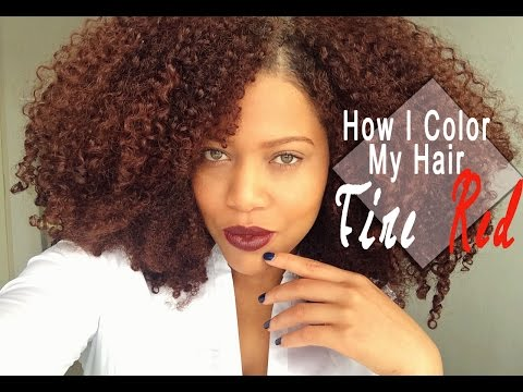 How I Color My Natural Hair At Home | Naturtint Fire Red Hair Dye Tutorial