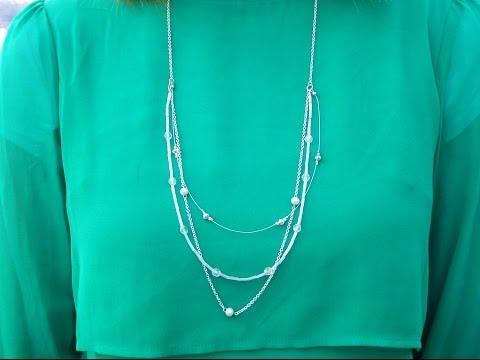 DIY Elegant Beaded Long Multi-Strand Necklace | AKA The Rebekah Necklace