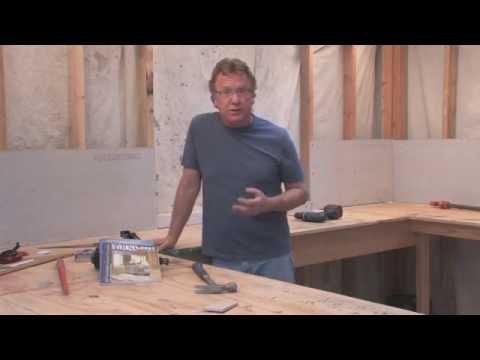 Installing a self-leveling floor underlayment