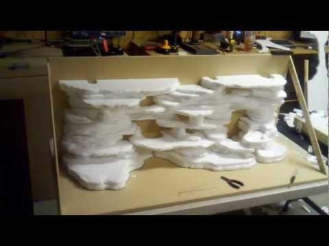 DIY 75 Gallon 3D Background Pt. 1