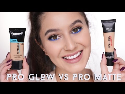 L'Oreal PRO MATTE vs PRO GLOW |  First Impressions