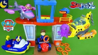 NEW Adventure Beach Lookout Tower Paw Patrol Sea Patrol Skateboard Shop Pups Sea Patroller Boat Toys