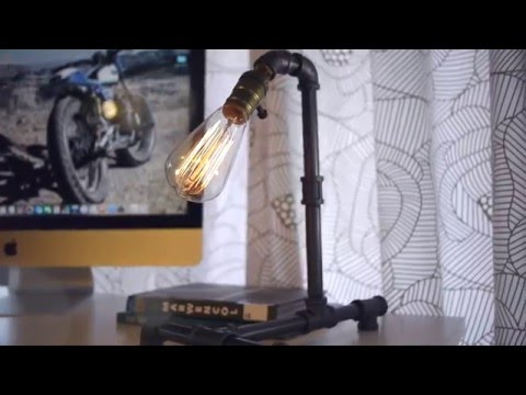 Iron Piping SteamPunk Urban Industrial Desk Lamp