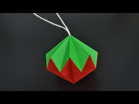 How to make a Paper Diamond Ornament