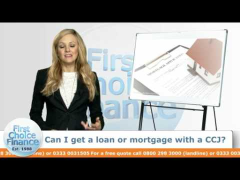 Can I get a loan or mortgage with a CCJ