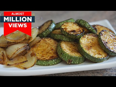 Sautéed Zucchini Recipe | Courgette Pan Frying Vegan Recipe