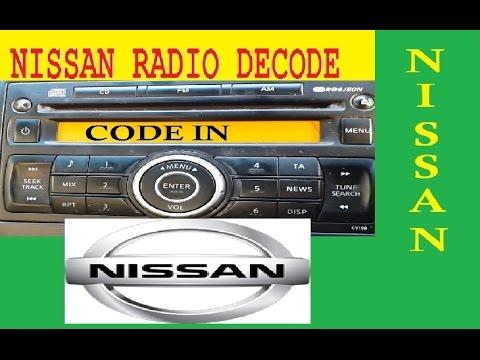 Nissan Decode radio,unlock code AGC-0071RF PN-2424M PN-2804F PN-3001P PN-2424V PN-3201M