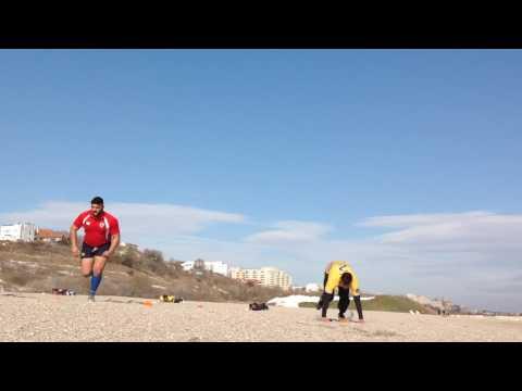Romania U20 da testul Malcolm pe plaja de la Constanta