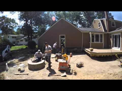 How We Install a Paver Patio with Fire Pit & Steps using Techo-Bloc Material - Updated Finish Photos