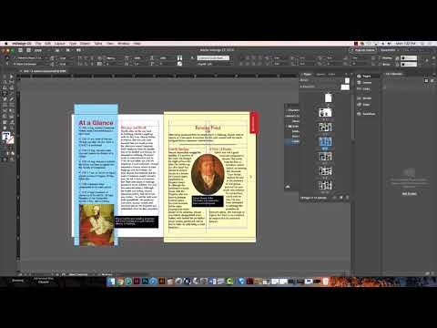 Ex.6  -Character styles, Master page items to front, and printing