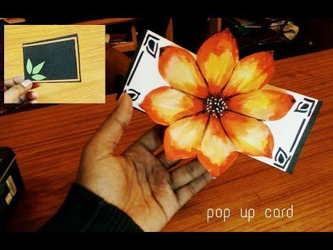 DIY 3D small flower POP UP card Crafts-Handmade Craft- Mother's Day card!