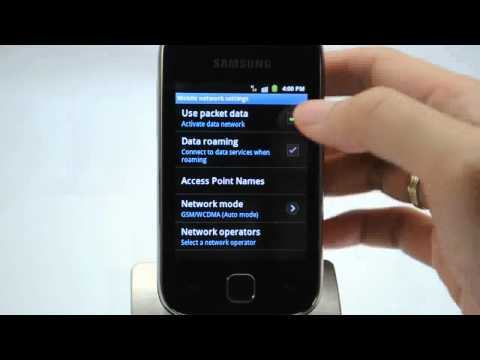 Samsung Galaxy Y (Netphone Edition): Turn off / on data services