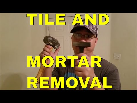 HOW TO REMOVE OLD TILE AND MORTAR IN SLIPPERS