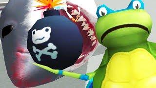 LEONARDO FROG B0MBS SHARKS IN THE CITY! - Amazing Frog - Part 124 | Pungence