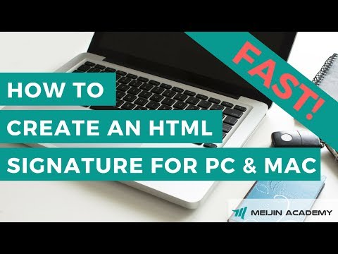 How to Create an Html Signature for PC and Mac
