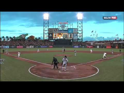 Hunter Pence breaks bat and hits ball THREE times during NLCS Game 7