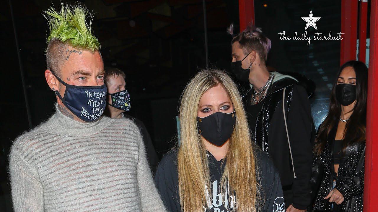 Megan Fox and boyfriend Machine Gun Kelly go on double date with Avril Lavigne and Mod Sun