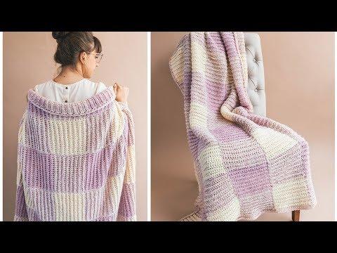 Crochet Homemaker Gingham Blanket