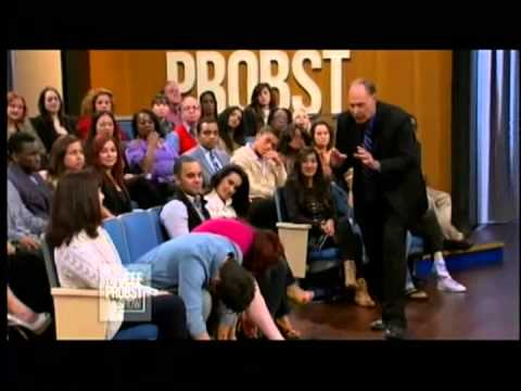 Tom Silver Hypnotist on Jeff Probst TV Talk Show Demonstration memory loss and talking hypnosis