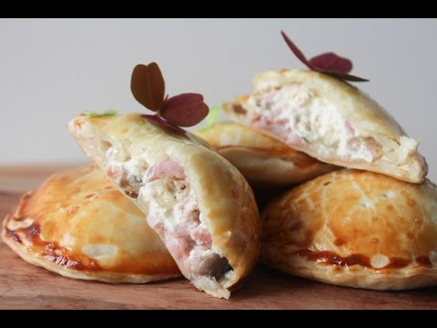 How To Make Cream Cheese, Ham And Mushroom Hand Pies - By One Kitchen Episode 443