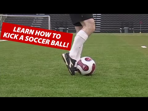 How To Kick A Soccer Ball Football | Soccer Kicking Shooting Technique ★