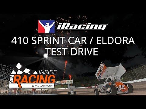 iRacing 410 Sprint Car Test Drive on a Slick Eldora Speedway