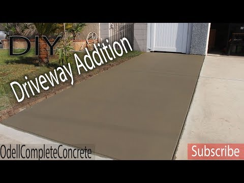 How to Pour a Great Beginners Slab! DIY Driveway Addition