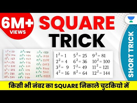 Shortcut to find square of any number || Maths and reasoning