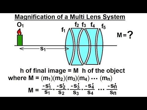 Physics: Optics- Multiple Lenses (11 of 12) Magnification of Multi Lens System