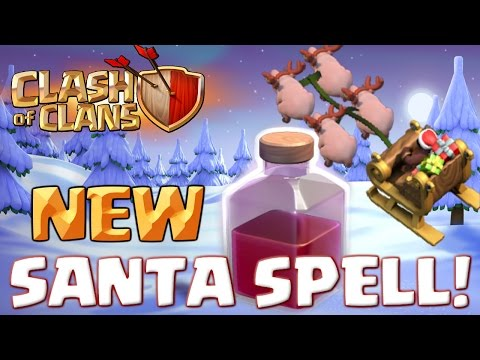 Clash of Clans NEW Santa Spell – Goblin Map Challenge | CoC Christmas Update