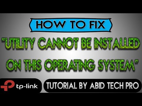 How to fix Tp Link Utility Error
