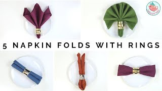 3 Styles Of Napkins Folds Tutorial How To Fold