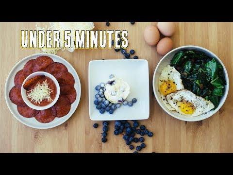 3 Fast Keto Snacks   Easy Keto Recipes