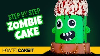 How To Make A FUN Zombie Cake by Sam Lapointe | How To Cake It Step By Step