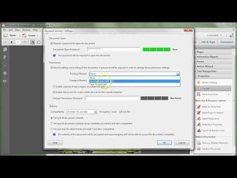 Adobe Acrobat XI: Add Security Password