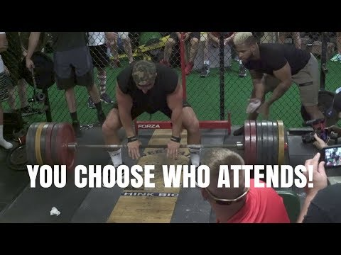 Who Should We Invite to Real Weights For Real Heroes?