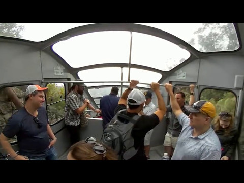360 Video Mount Monserrate Funicular Tram Ride, Bogota, Colombia