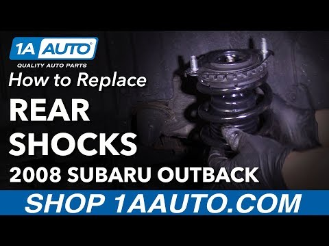 How to Install Replace Rear Shocks Strut Spring Assembly 2005-09 Subaru Outback