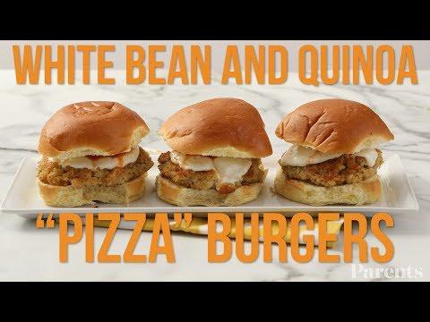 White Bean and Quinoa 'Pizza' Burgers | Parents