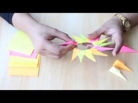 How To Make Robin Ninja Star out of sticky notes