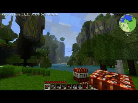 MINECRAFT: Quick Easy TNT Cannon Tutorial (Beta 1.3_01)