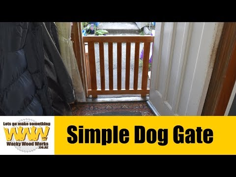 Simple Dog Gate - Off the Cuff - Wacky Wood Works.
