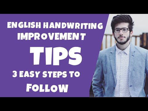 Handwriting improvement tips (ENGLISH)